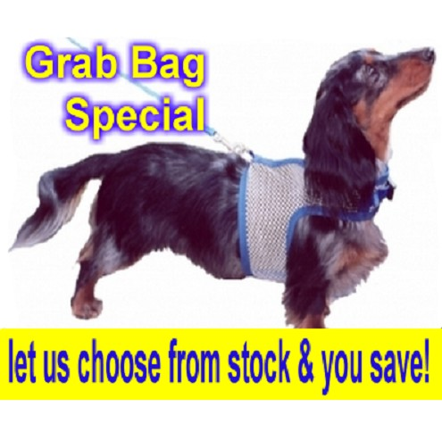"Hug-A-Dog Harness® in White Mesh (size 14""-19"") Grab Bag"