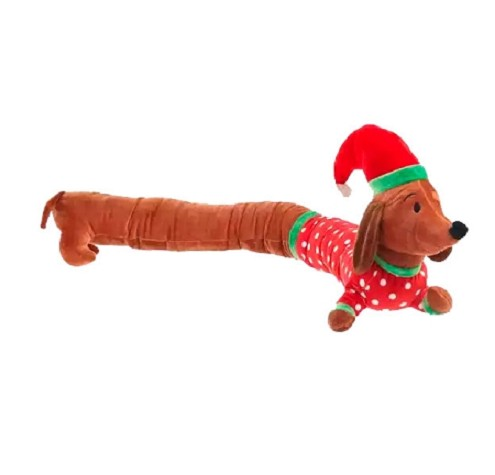 Long Dog Santa Dachshund Push Toy