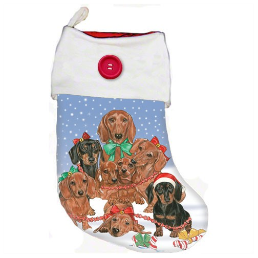 Dachshund Holiday Christmas Stocking