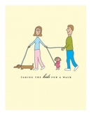 Taking Kids for Walk Card (pack of 6)