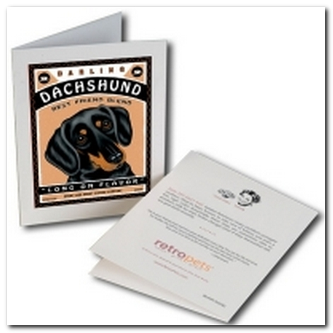 Darling Dachshund Greeting Card