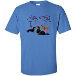 Patriotic Dachshunds Unisex T-Shirt