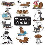 Wiener Dog Zodiac T-Shirt